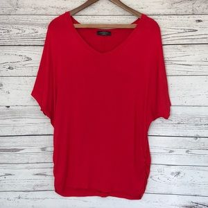 Made By Johnny Red Scrunched Side Tunic Size XXXL